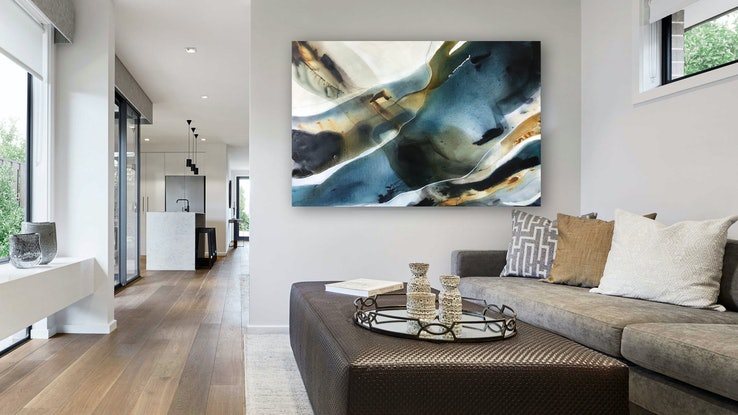 (CreativeWork) Mirage 2 by Dinah Wakefield. Acrylic Paint. Shop online at Bluethumb.
