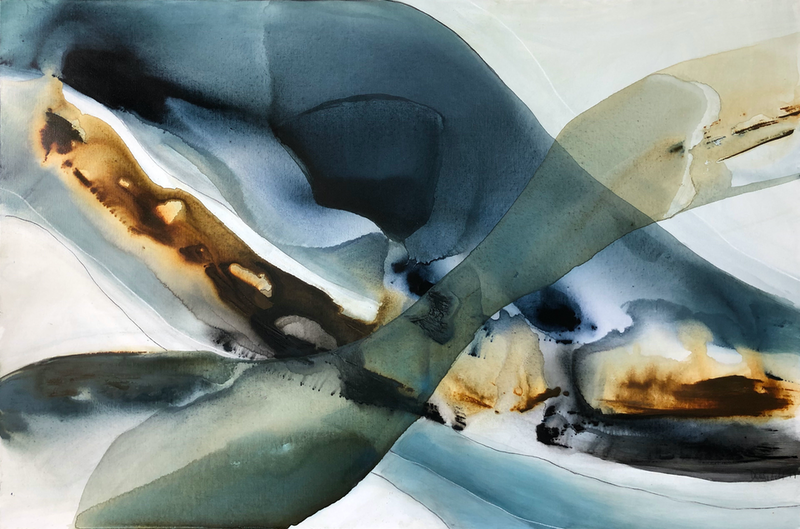 (CreativeWork) Luminous Ocean by Dinah Wakefield. arcylic-painting. Shop online at Bluethumb.