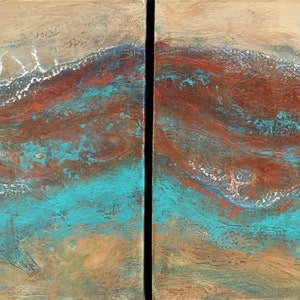 (CreativeWork) Kimberley Abstract by Brigitte Ackland. arcylic-painting. Shop online at Bluethumb.