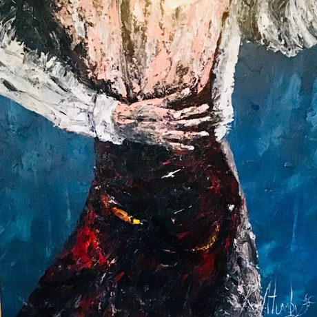 (CreativeWork) Dance With Me by Kerri Humby. Acrylic Paint. Shop online at Bluethumb.