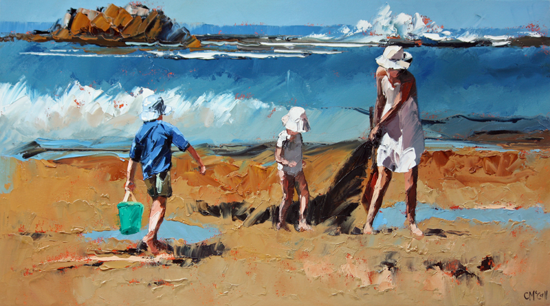 (CreativeWork) Rockpool Treasures III by Claire McCall. Oil Paint. Shop online at Bluethumb.