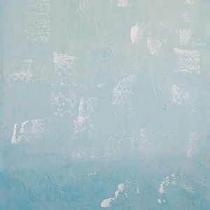 (CreativeWork) Frosted Aqua Blue by Barry Johnson. arcylic-painting. Shop online at Bluethumb.