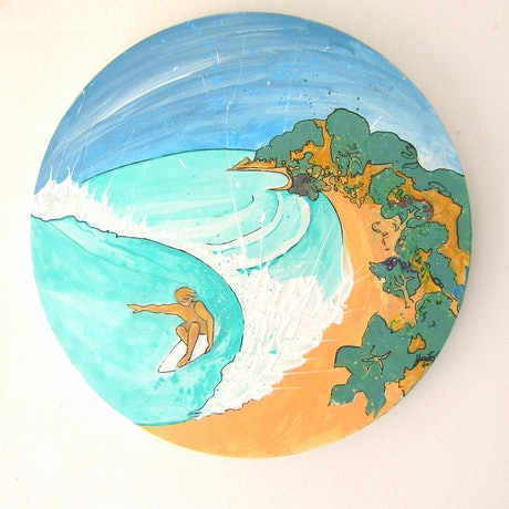 (CreativeWork) Surfin' by Unity Zilles. Acrylic Paint. Shop online at Bluethumb.