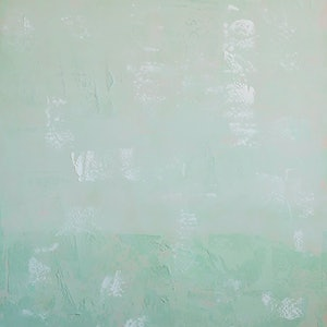 (CreativeWork) Frosted Mint Green by Barry Johnson. arcylic-painting. Shop online at Bluethumb.