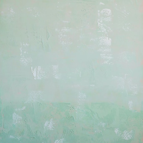 (CreativeWork) Frosted Mint Green by Barry Johnson. Acrylic Paint. Shop online at Bluethumb.