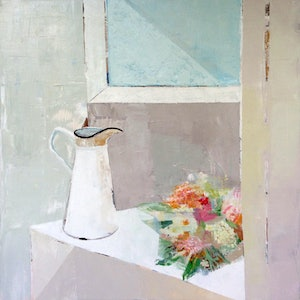 (CreativeWork) Still Life by Laura Vecmane. oil-painting. Shop online at Bluethumb.