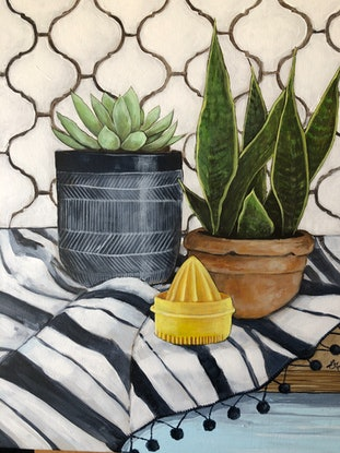 (CreativeWork) Mojoto Jo by Emma Ward. Acrylic Paint. Shop online at Bluethumb.