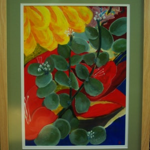 (CreativeWork) Flowers - still life by Geoff Hargraves. arcylic-painting. Shop online at Bluethumb.