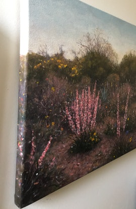 (CreativeWork) West Australian Wildflowers no 4. by Howard Sparks. Oil Paint. Shop online at Bluethumb.