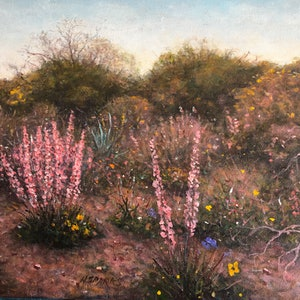 (CreativeWork) West Australian Wildflowers no 4. by Howard Sparks. oil-painting. Shop online at Bluethumb.