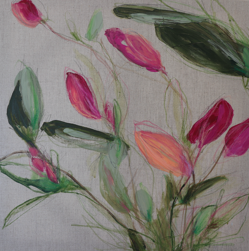(CreativeWork) Budding by Kate Owen. arcylic-painting. Shop online at Bluethumb.
