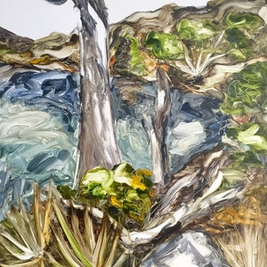 (CreativeWork) She Takes me to Tasmania by Tym Yee. oil-painting. Shop online at Bluethumb.
