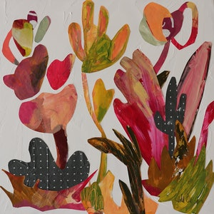 (CreativeWork) Joy's Garden by Kate Owen. arcylic-painting. Shop online at Bluethumb.