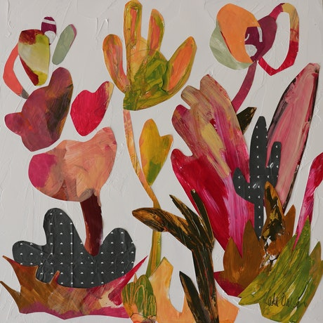 (CreativeWork) Joy's Garden by Kate Owen. Acrylic Paint. Shop online at Bluethumb.