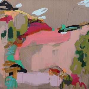 (CreativeWork) The Surrounds I  by Kate Owen. arcylic-painting. Shop online at Bluethumb.