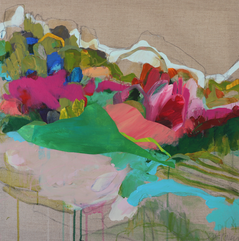 (CreativeWork) The View I by Kate Owen. mixed-media. Shop online at Bluethumb.