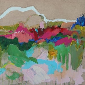 (CreativeWork) The View II  by Kate Owen. mixed-media. Shop online at Bluethumb.