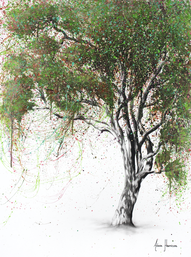 (CreativeWork) Guiding Gum Tree by Ashvin Harrison. arcylic-painting. Shop online at Bluethumb.