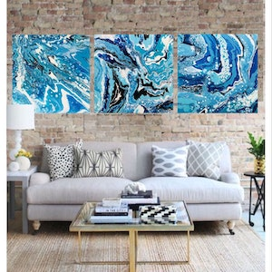 (CreativeWork) Hypnotic  by Michelle Chalmers. arcylic-painting. Shop online at Bluethumb.