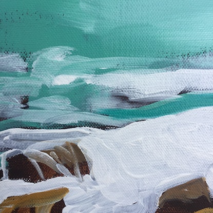 (CreativeWork) Wineglass Bay by Sandra Jenkins. Acrylic Paint. Shop online at Bluethumb.