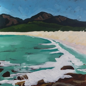 (CreativeWork) Wineglass Bay by Sandra Jenkins. #<Filter:0x0000557e92d98af8>. Shop online at Bluethumb.