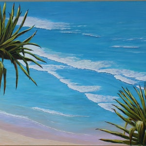 (CreativeWork) Greenmount View by Deb Clancy. arcylic-painting. Shop online at Bluethumb.