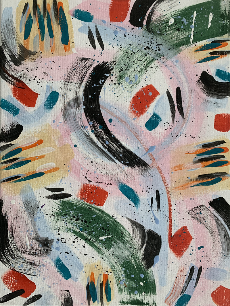 (CreativeWork) Oriental Abstract by Rhianna Fox. Acrylic Paint. Shop online at Bluethumb.