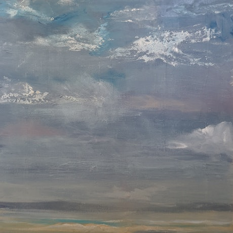 (CreativeWork) Rustic Coast by Andrea Edwards. Acrylic Paint. Shop online at Bluethumb.