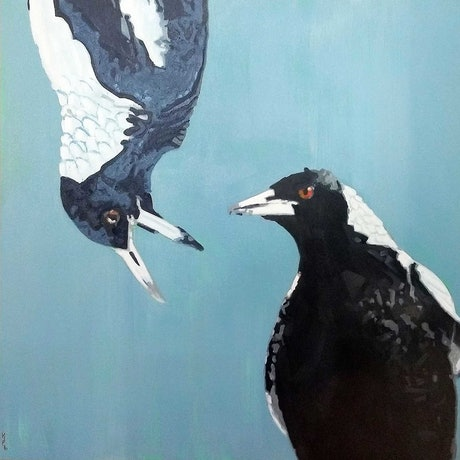 (CreativeWork) After that, Trevor stuck to decaf. by Karen Bloomfield. Oil Paint. Shop online at Bluethumb.