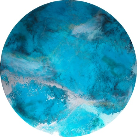 (CreativeWork) Agincourt Reef 2320 by Heath Johnson. Resin. Shop online at Bluethumb.