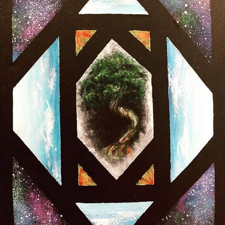 (CreativeWork) Tree of life  by Alice Mayqueen. Acrylic Paint. Shop online at Bluethumb.