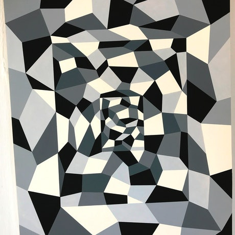(CreativeWork) Shattered by Lynda Hyde. Acrylic Paint. Shop online at Bluethumb.