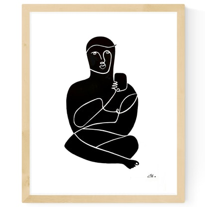 (CreativeWork) 'Mobile Meditation' 45x55 Frame by Chris Cox. Acrylic Paint. Shop online at Bluethumb.