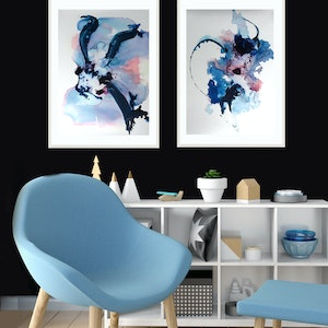 (CreativeWork) 2 x Framed Mixed Media Paintings  by Michelle Drougas. mixed-media. Shop online at Bluethumb.