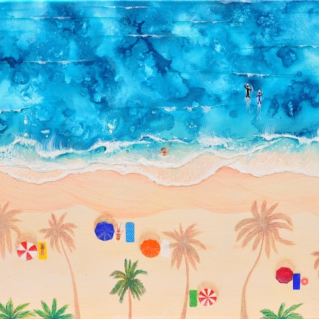 (CreativeWork) Tropical Heat by Lisa Humphrey. Acrylic Paint. Shop online at Bluethumb.
