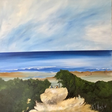 (CreativeWork) Low Tide  by Kerri Humby. Acrylic Paint. Shop online at Bluethumb.