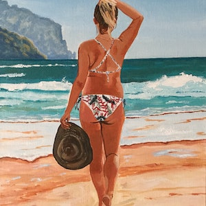 (CreativeWork) Back to Paradise Again by Robyn Gray. acrylic-painting. Shop online at Bluethumb.