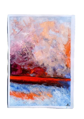 (CreativeWork) Abstract Seascape Attrayante by Nicole Seal. Acrylic Paint. Shop online at Bluethumb.