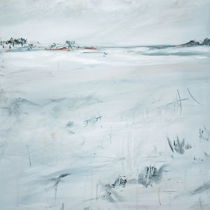 (CreativeWork) Meandering Tundra by Tania Chanter. arcylic-painting. Shop online at Bluethumb.