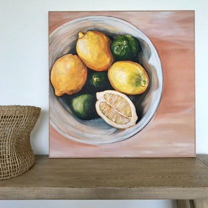 "(CreativeWork) ""Lemons and Limes"" Limited Edition Ed. 1 of 35 by Emma Nancarrow. Print. Shop online at Bluethumb."