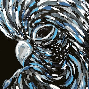 (CreativeWork) Royal Plumage by Lisa Fahey. arcylic-painting. Shop online at Bluethumb.