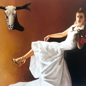 (CreativeWork) Taurus Rising by Trisha Lambi. oil-painting. Shop online at Bluethumb.