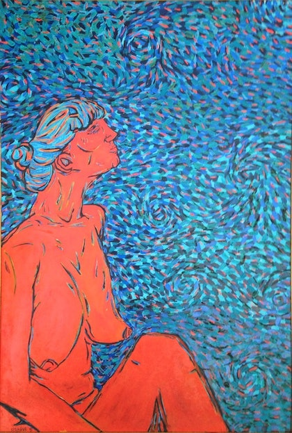 (CreativeWork) Woman' study XI by Sidney Sprague. oil-painting. Shop online at Bluethumb.