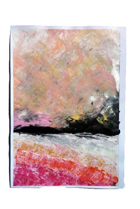 (CreativeWork) Abstract Seascape Euphorique by Nicole Seal. Acrylic Paint. Shop online at Bluethumb.