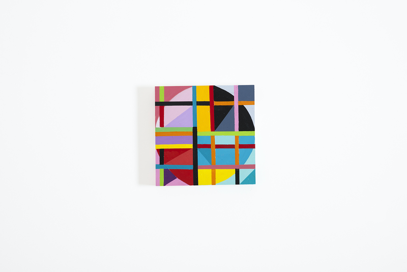 (CreativeWork) grid by mary shackman. Oil Paint. Shop online at Bluethumb.