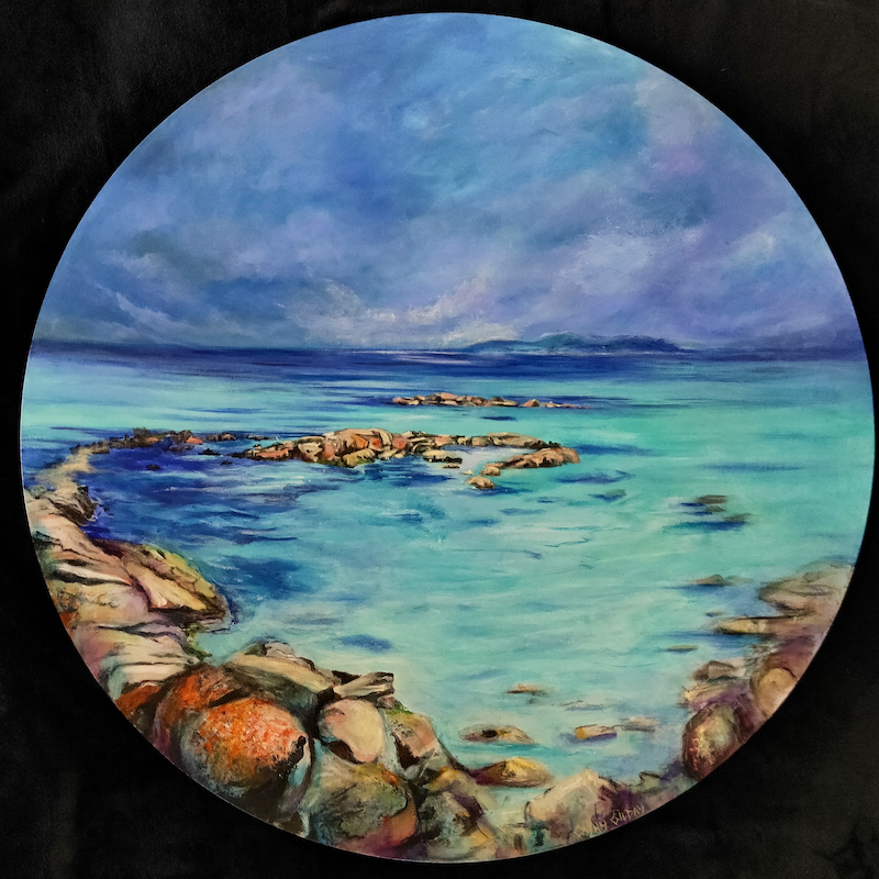 (CreativeWork) Circle of Dreams by Cathy Gilday. Acrylic Paint. Shop online at Bluethumb.