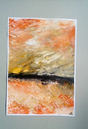 (CreativeWork) Abstract Seascape Infini by Nicole Seal. Acrylic Paint. Shop online at Bluethumb.