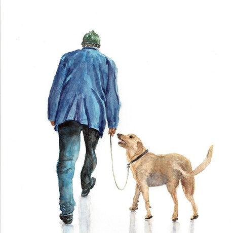 (CreativeWork) Daily walk#2 by Jing Tian. Watercolour Paint. Shop online at Bluethumb.