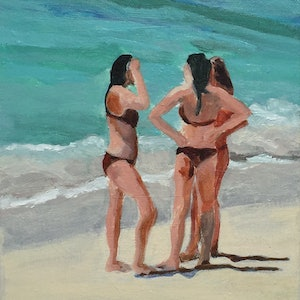 (CreativeWork) SUMMER LIFE - Nielsen Park by TeMoana .. arcylic-painting. Shop online at Bluethumb.