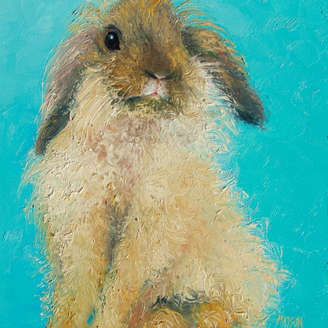 (CreativeWork) HAIRY RABBIT - framed Animal by Jan Matson. Oil Paint. Shop online at Bluethumb.